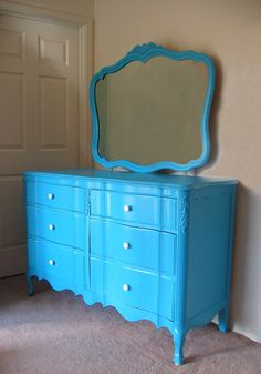 Rustoleum Spray Paint in Aqua (see hutch from same blog ...