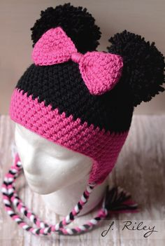 Crochet Hat Patterns Kids Pom Poms Ideas For 2019 - Crochet kids hats - Crochet Hat Pattern Kids, Crochet Kids Hats, Crochet Cap, Crochet Beanie, Cute Crochet, Crochet Crafts, Crochet Clothes, Crochet Projects, Knitted Hats