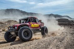 Photo of the Ultra4 Car, #4444, Team 4 Wheel Parts out on course Lap 1 the Mint 400