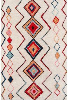 Novogratz by Momeni Bungalow Collection Olivia Area Rug, X Multi - Best Seller List Decoupage, Plush Area Rugs, Modern Area Rugs, Hand Tufted Rugs, Geometric Designs, Geometric Patterns, Indoor Rugs, Tribal Prints, Bohemian Decor