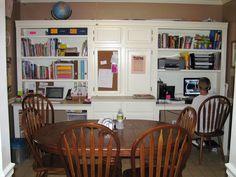 I love this homeschool dining room unit.