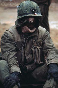 USMC in Hue City, February, 1968. Vietnam War