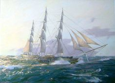 #GeoffHunt, President RSMA #CuttySark  Built in 1869 to beat the fastest tea clippers, her finest years were in the wool trade from Australia, when she once overtook the fast steamship Britannia. http://www.artmarine.co.uk/beagle.aspx