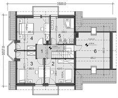 Rzut poddasza projektu Baset 6 z garażem 2-st. House Plans, Floor Plans, Interior, Indoor, Interiors, House Floor Plans, Floor Plan Drawing, Home Plans