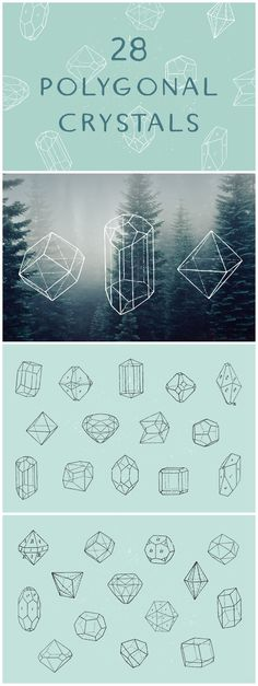 Free collection of 28 vintage drawings of various minerals, diamond & crystal shapes etc Diamond Graphic, Crystal Shapes, Vintage Drawing, Minerals, Graphic Design, Texture, Crystals, Drawings, Book