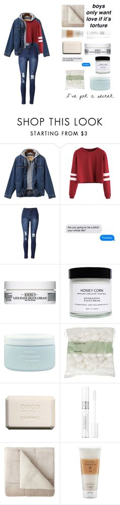 """""""Untitled #116"""" by flowerpower-795 ❤ liked on Polyvore featuring Kiehl's, Honey Corn, Aveda, John Lewis, Chanel, Christian Dior and Tocca"""