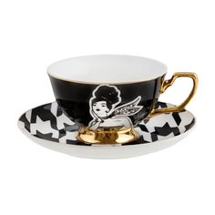 Cristina Re - 'To Paris with Love' Teacup & Saucer - This hand illustrated, limited edition collection has been inspired by Cristina's love of all things Parisian, the city, the fashion and days spent sipping tea in style. Coordinate with an array of accessories from the Cristina Re High Tea Collection.