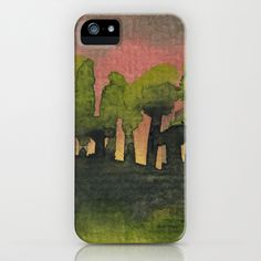 The Woods I Pink iPhone & iPod Case by Marina Kanavaki - $35.00