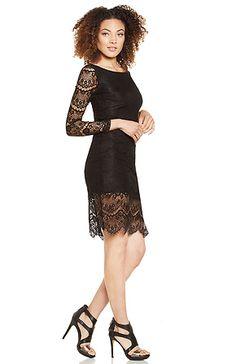 Blaque Label Long Sleeve Lace Dress in Black S - L | DAILYLOOK