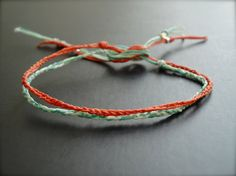 friendship bracelet duo.   perfect add-on to the knit. or button friendship bracelets!