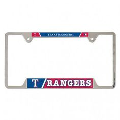 WinCraft Texas Rangers Metal License Plate Frame (Blue, Size ) - Pro Licensed Product, Pro Licensed Novelty at Academy Sports