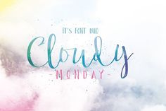 Cloudy Monday Font Duo by wubstudio