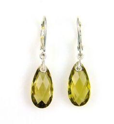 Jewelers 3 - Natural 7.62ct Quartz Dangle Earrings Sterling Silver $49   STYLE #: 0024677 #earrings