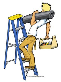 always maintain three points of contact when climbing a ladder ladder safety pinterest