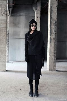 styletrove:  STYLED: Chic Black on black layers.