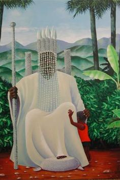 Obatala > Yoruba gods; Obatala always dresses in white. He protects you agains blindness, paralisis and dementia
