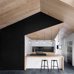 That is a beautiful way to #colorblock a #home, especially one with great #angles to it. #BoltonResidence designed by Naturehumaine \\\ Photo by Adrien WIlliams