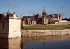 Château de Chantilly, Chantilly, France (just north of Paris). It was featured prominently in the Bond movie 'A View To Kill' (1985)  starring Roger Moore / photo © Bond Lifestyle
