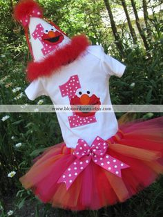 #Elmo Birthday Tutu Set #SesameStreetParty
