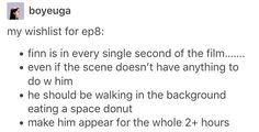 I would want this, but I'm too afraid the writers/director would just have more time to keep traumatizing him.