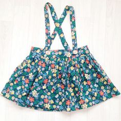 Liberty of London Suspender Skirt | HandmadeClothingLTD on Etsy