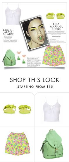 """""""Sem título #1625"""" by soniamazeto ❤ liked on Polyvore featuring Sophia Webster, Lilly Pulitzer, Dasein and Loroetu"""