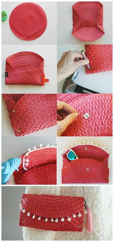 Trash To Couture: DIY Wicker Purse From Placemat