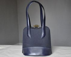 HOLD HOLD HOLD. vintage 40s purse - navy mesh and vinyl by RainbowVintage on Etsy https://www.etsy.com/listing/89576916/hold-hold-hold-vintage-40s-purse-navy