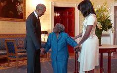Mulher de 106 dança com Obama na Casa Branca em celebração da 'História dos Negros'