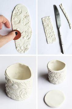 alisaburke: oven bake clay pinch pots