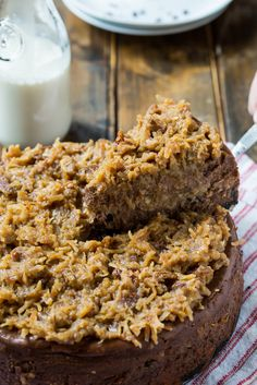 German Chocolate Cheesecake German Chocolate Cheesecake with a gooey coconut-pecan frosting. German Chocolate Cheesecake German Chocolate Cheesecake with a gooey coconut-pecan frosting. Chocolate Treats, Homemade Chocolate, Melting Chocolate, Cake Chocolate, Cheesecake Recipes, Dessert Recipes, Delicious Desserts, Tiramisu Cheesecake, Cheesecake Cookies