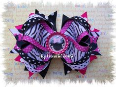 Boutique Stacked Hair Bow Minnie Mouse Hair Bow by MyFlowerZone, $11.50