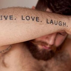 typographic tattoo