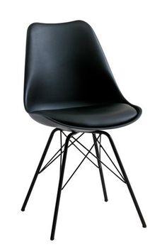 Matbordsstol KLARUP läderlook svart | JYSK