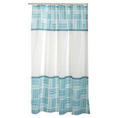 Carnation Home Fashions Caroline Polyester Fabric Shower Curtain
