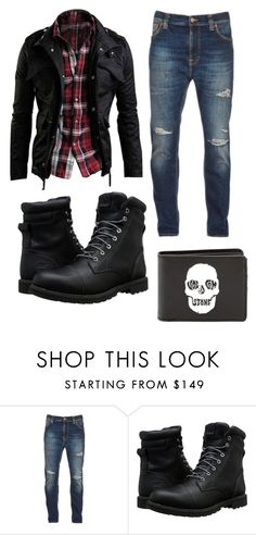 """Untitled #313"" by g-o-thomas ❤ liked on Polyvore featuring Nudie Jeans Co., Timberland, Volcom, men's fashion and menswear"