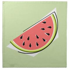 #stylish - #Watermelon Green Slice napkins cloth
