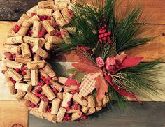 Holiday Cork Wreath