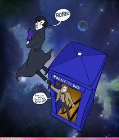 Whoever made this: I love you. Sherlock+Doctor Who= Best. Thing. Ever. I need this as a poster.