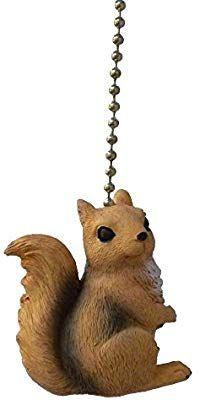 Autumn Squirrel Fan Pull  Light Pull
