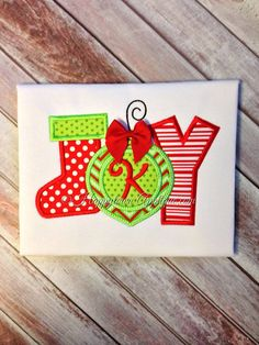 JOY Machine Embroidery Design by HappytownApplique on Etsy, $4.00