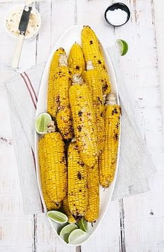 BBQ sweetcorn with chili, lime + herb butter Bbq Sweetcorn, Bbq Corn, Carnival Food, Yellow Foods, Acquired Taste, Roasted Corn, Summer Bbq, Summer Time, Summer Parties