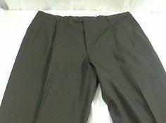 Hart-Schaffner-Marx-Wool-Dress-Pants-Slacks-Green-Mens-Size-44-Unhemmed-Big  #pants #swag #NEW #Slacks #formal #MensFashion