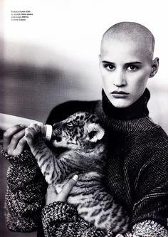 UK ELLE November 1993 Fiercely Individual Ph: Neil Kirk Model: Eve Salvail Stylist: Marcus von Ackerman Makeup: Laura Jadro