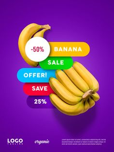 Banana advertising floating banner Premium Psd Food Poster Design, Flyer Design, Branding Design, School Advertising, Advertising Ads, Ads Creative, Creative Posters, Social Media Banner, Social Media Design