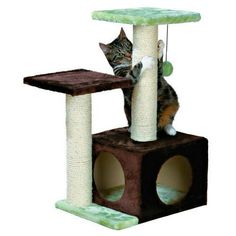 rascadores para gatos - Buscar con Google Hiding Cat Litter Box, Cat Scratching Tree, Cool Cat Trees, Tree Furniture, Cat Towers, Cat Scratcher, Cat Condo, Diy Stuffed Animals, Sisal