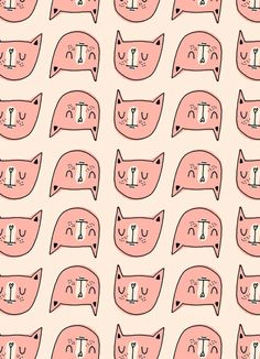 Angie Garland - satisfied cat pattern - I love the smug look on their faces! Motifs Textiles, Textile Patterns, Textile Design, Loom Patterns, Design Art, Print Design, Pattern Texture, Surface Pattern, Surface Design