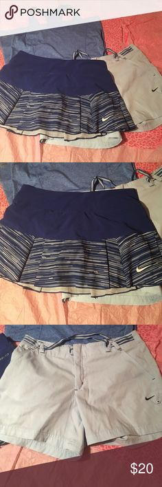 Women's NIKE workout outfit size medium Nice women's Nike outfits. All size medium. The skirt has shorts built in. The shorts and skirt are both Nike and the top is danskin all are in excellent condition.                              C870 Nike Other