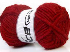 Wool Yarn Red Virgin Felt Wool Ice Yarn Chunky Yarn Size 5