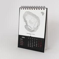 Mountains – Desk diary 2014 on Behance